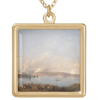 View of the Harbour of Sebastopol during the Crime Gold Plated Necklace