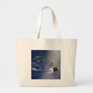 View of the Hawaiian Islands Large Tote Bag