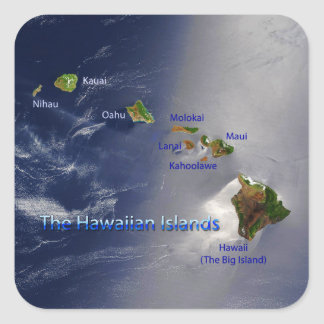 View of the Hawaiian Islands Square Sticker