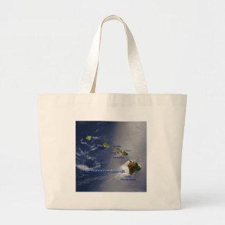 View of the Hawaiian Islands Canvas Bag