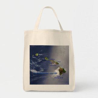 View of the Hawaiian Islands Canvas Bags