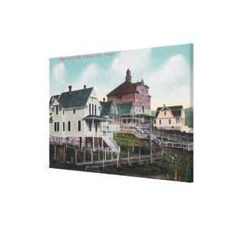View of the High School Hill, Residences Stretched Canvas Print