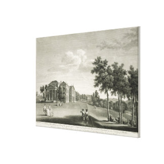 View of the house and part of the garden at West W Canvas Print