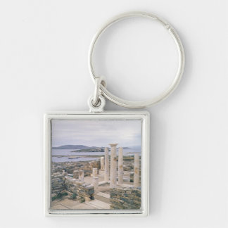 View of the House of Cleopatra Silver-Colored Square Key Ring
