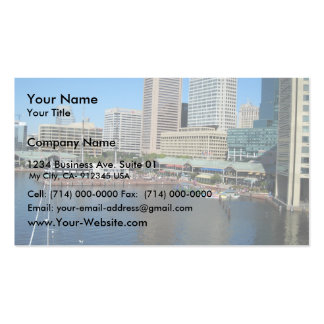 View Of The Inner Harbour Area At Baltimore, Md. Pack Of Standard Business Cards