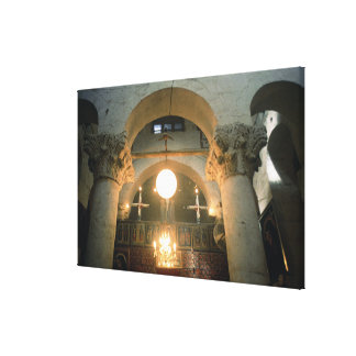 View of the interior canvas print