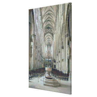 View of the interior looking east, begun 1230 gallery wrapped canvas
