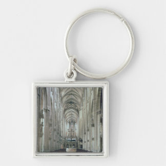 View of the interior looking east, begun 1230 keychain