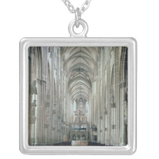 View of the interior looking east, begun 1230 square pendant necklace