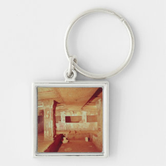 View of the Interior of the Tomb Silver-Colored Square Key Ring