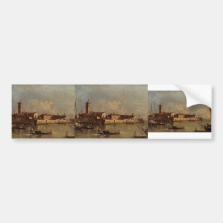 View of the Island by Francesco Guardi Bumper Stickers