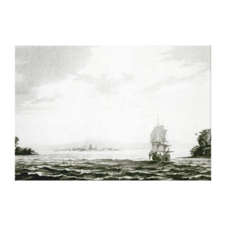 View of the Island of Tappanooly Canvas Print