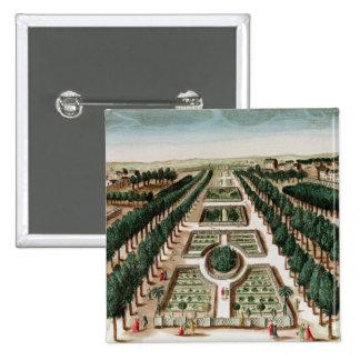 View of the Jardin des Plantes 15 Cm Square Badge