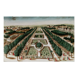 View of the Jardin des Plantes Poster
