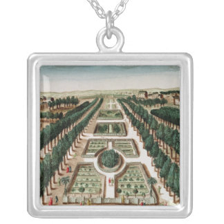 View of the Jardin des Plantes Silver Plated Necklace