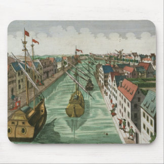 View of the Kettel Gate in Delft (engraving) Mouse Mat