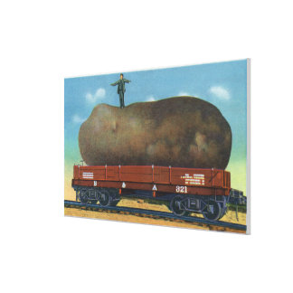 View of the Kind of Potatoes Raised in Maine Canvas Prints