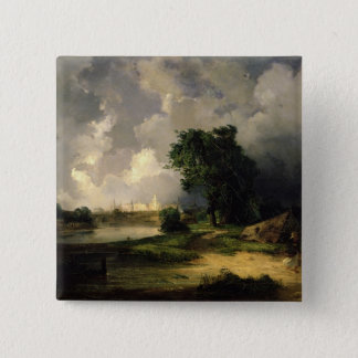 View of the Kremlin in Bad Weather, 1851 15 Cm Square Badge