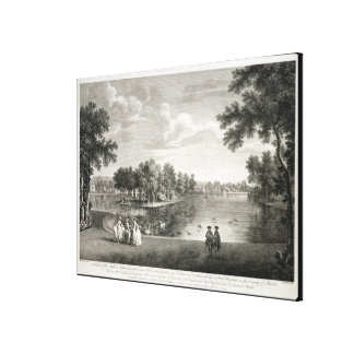 View of the Lake from the Centre Walk in the garde Canvas Print