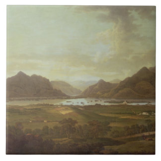 View of the Lakes and Mountains of Killarney, Irel Tile