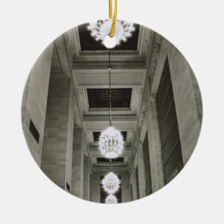 View of the lamps (b/w photo) christmas ornament