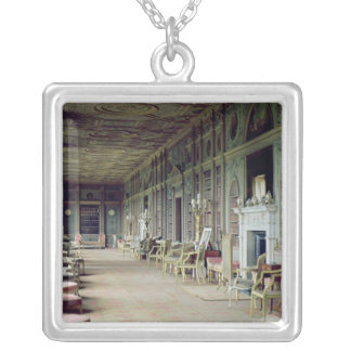 View of the Long Gallery Silver Plated Necklace