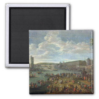 View of the Louvre and the Tour de Nesles Fridge Magnet