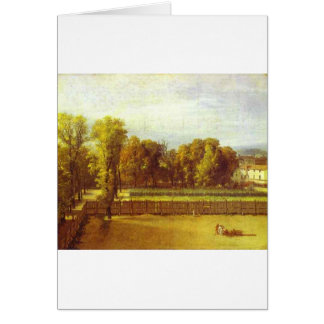 View of the Luxembourg Gardens in Paris by Jacques Greeting Card