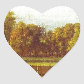 View of the Luxembourg Gardens in Paris by Jacques Heart Sticker