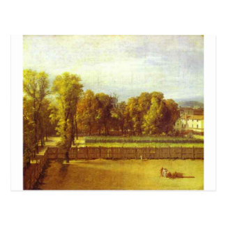 View of the Luxembourg Gardens in Paris by Jacques Postcard