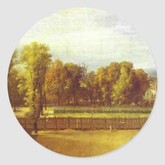 View of the Luxembourg Gardens in Paris by Jacques Round Sticker