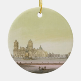 View of the main square in Mexico City (colour eng Christmas Ornament