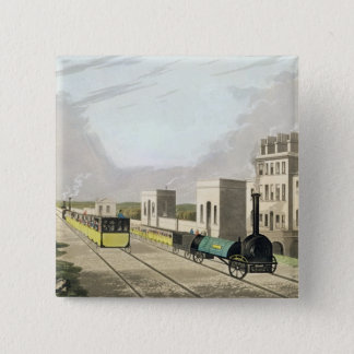 View of the Manchester and Liverpool Railway, take 15 Cm Square Badge
