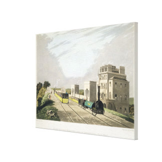 View of the Manchester and Liverpool Railway, take Canvas Print