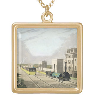 View of the Manchester and Liverpool Railway, take Gold Plated Necklace