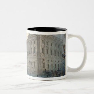 View of the Mariinsky Palace in Winter, 1863 Two-Tone Mug