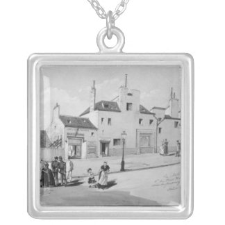 View of the Maternite Port-Royal, August 1886 Silver Plated Necklace