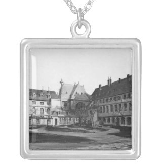 View of the Maternite Port-Royal the cloister Silver Plated Necklace