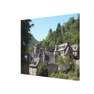 View of the medieval village (photo) canvas print