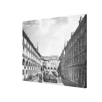 View of the Men's Yard at the Conciergerie Canvas Print