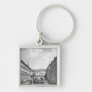 View of the Men's Yard at the Conciergerie Silver-Colored Square Key Ring