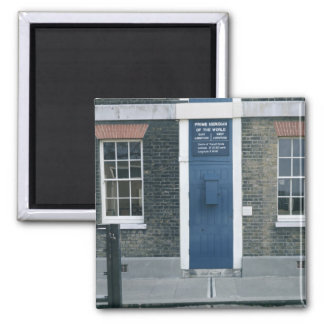 VIew of the meridian line Square Magnet