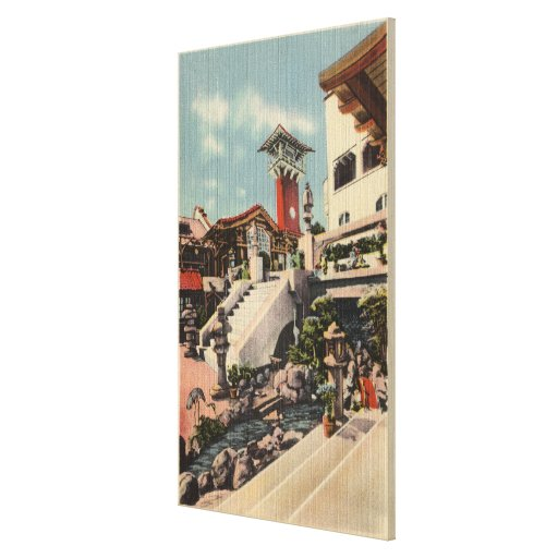 View of the Mission Inn & Oriental Court Canvas Prints