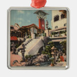 View of the Mission Inn & Oriental Court Silver-Colored Square Decoration