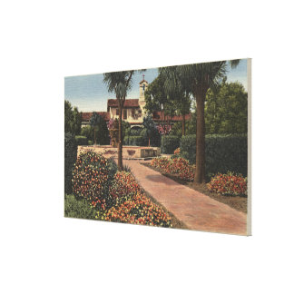 View of the Mission Patio Gardens Gallery Wrap Canvas