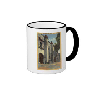 View of the Mission's Doors & Stairway Coffee Mug