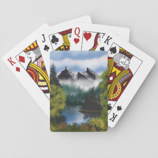 View of the Misty Mountains Playing Cards