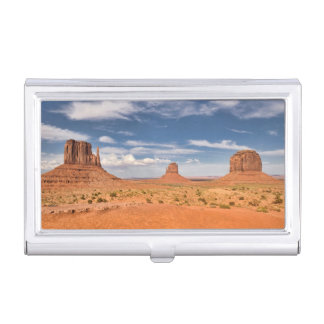 View of the Mittens, Monument Valley Business Card Holder