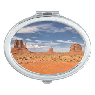 View of the Mittens, Monument Valley Compact Mirror