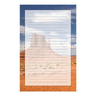 View of the Mittens, Monument Valley Customised Stationery